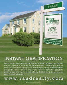 Instant Gratification Text Message Yard Sign