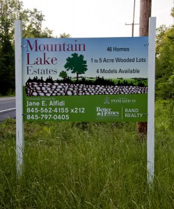 Mountain Lake Estates New Development Signage