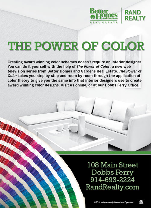 The power of color real estate branding ad - The power of color ...