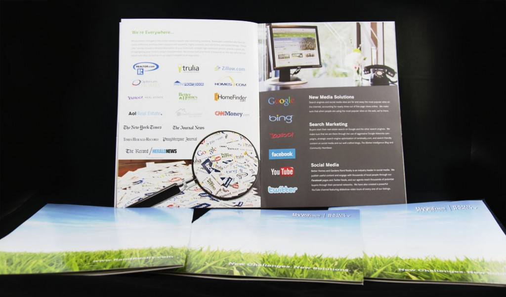 photo of interior pages of listing presentation brochure