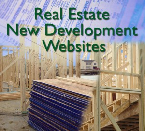 New Development Website Photo Montage of home construction sites.