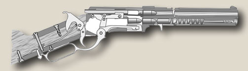 Diagram of the loaded Henry Rifle