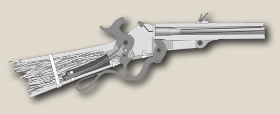 Diagram of a loaded Maynard Carbine
