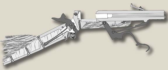 Diagram of the sliding barrel mechanism while loading