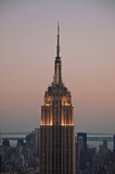 The Empire State Building with white light taken on an extremely clear August evening in Manhattan.