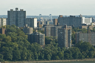 Bronx Sky Scrapers and White Stone Bridge