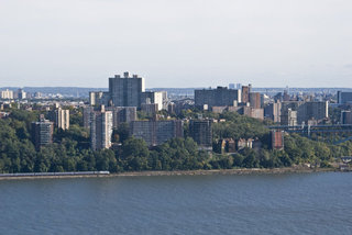 South Bronx High Rises and Train