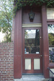 Old Storefront door with lamp.