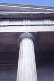 Detail of the First Bank of the United States. Column an excellent example of Greek Revival Architecture.