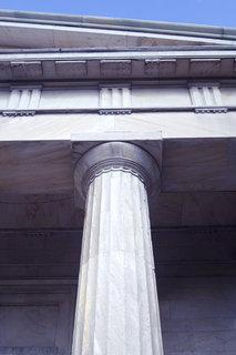 Greek Revival column and Cornice