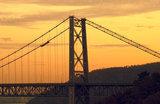 The Bear Mountain Bridge at Sunset