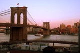 The Brooklyn Bridge Spans the East River from Manhattan to Brooklyn