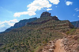 O'Neill Butte springs up in the Grand Canyon along the South Kaibab trail.