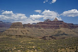 The Tonto Plateau gently slopes down before a final steep drop to the Colorado River in The Grand Canyon.