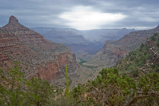 The Bright Angel Trail in the Grand Canyon