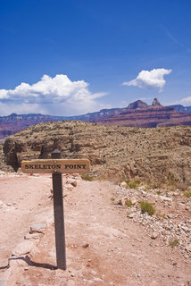 Skeleton Point Sign in the Grand Canyon