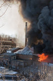 Fire ravages the former Firth Carpet Mill in Cornwall, New York.