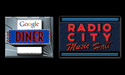 Google Diner and Radio City Music Hall Google Office Signage